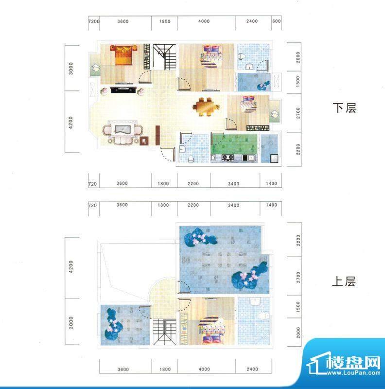 鼎虹·蓝城E5户型图面积:138.20平米