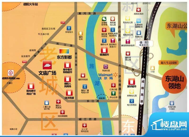 东湖山领地交通图