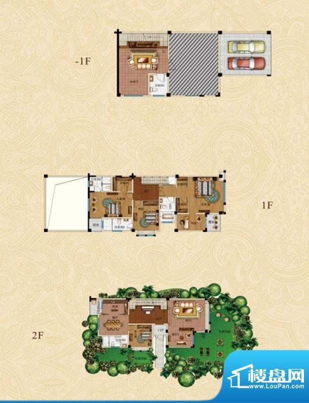 东湖山领地A户型图 面积:350.00平米
