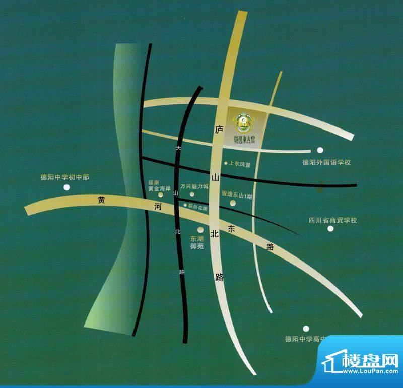 骏逸东山二期交通图