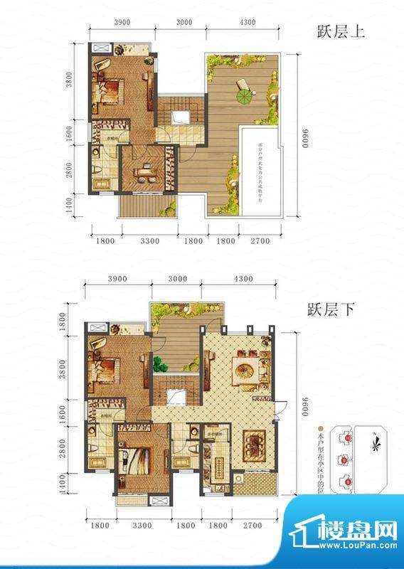 山海天C户型图 4室2面积:163.67平米