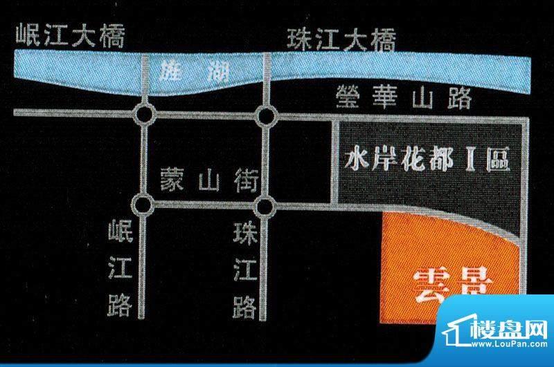 水岸花都二期云景交通图