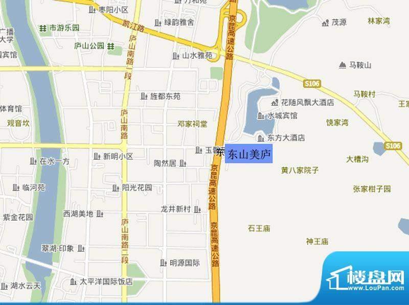 东山美庐交通图