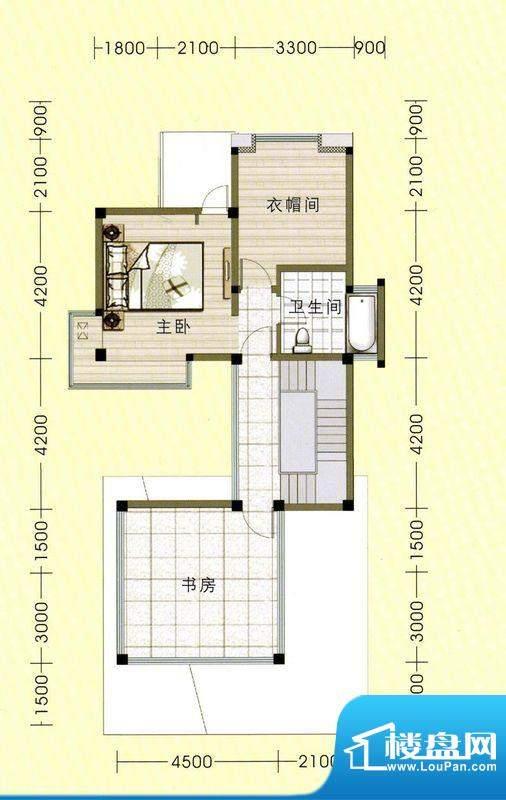 东山美庐D-三层户型面积:334.08平米