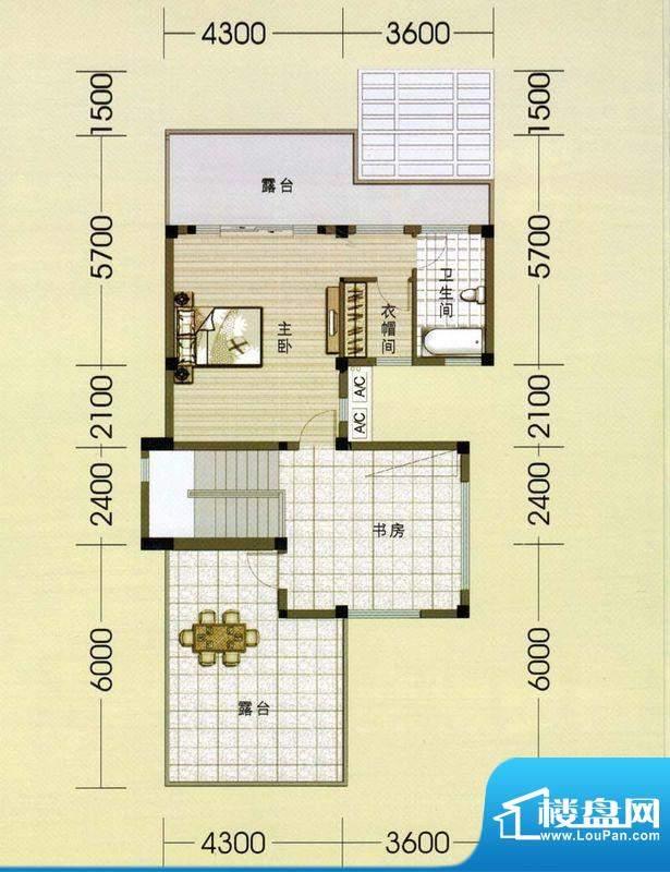 东山美庐E-二层户型面积:381.00平米