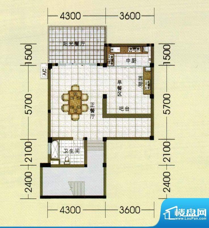 东山美庐E-负二层户面积:381.00平米