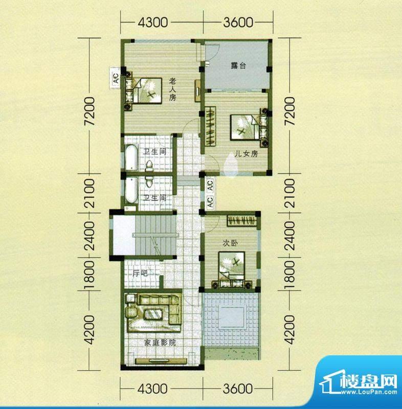 东山美庐E-负一 层户面积:381.00平米