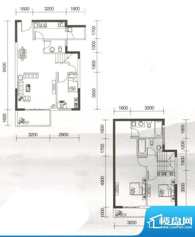 友山公馆D户型图 3室面积:118.18平米