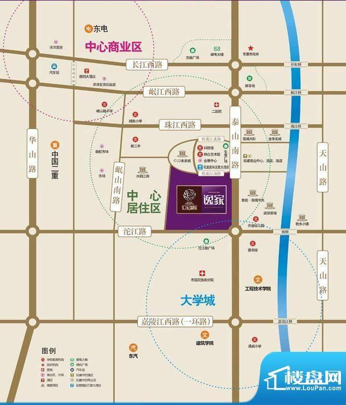 汇乐国际·逸家交通图