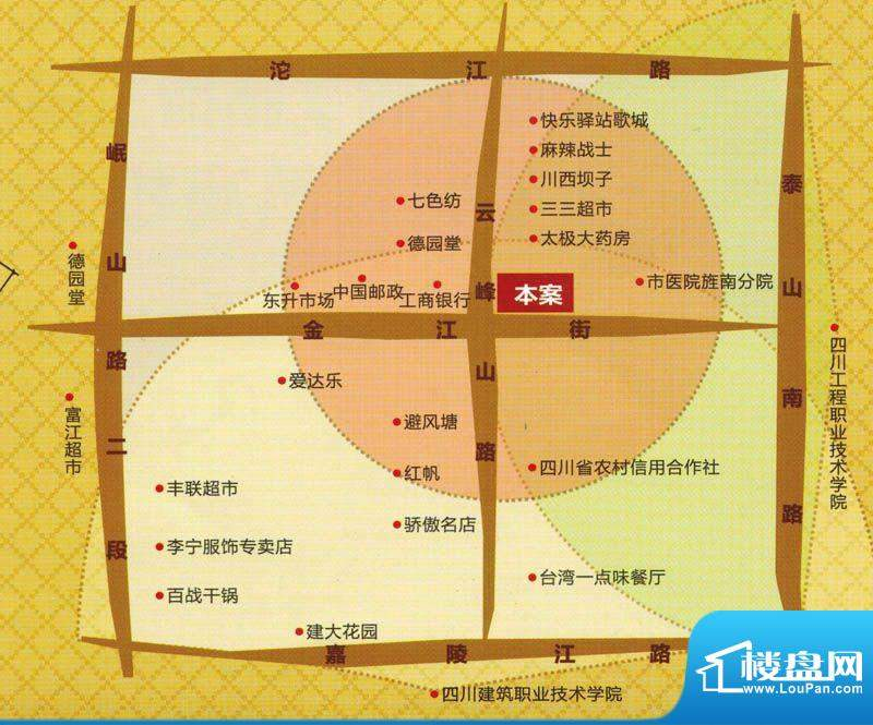 金鑫花园交通图