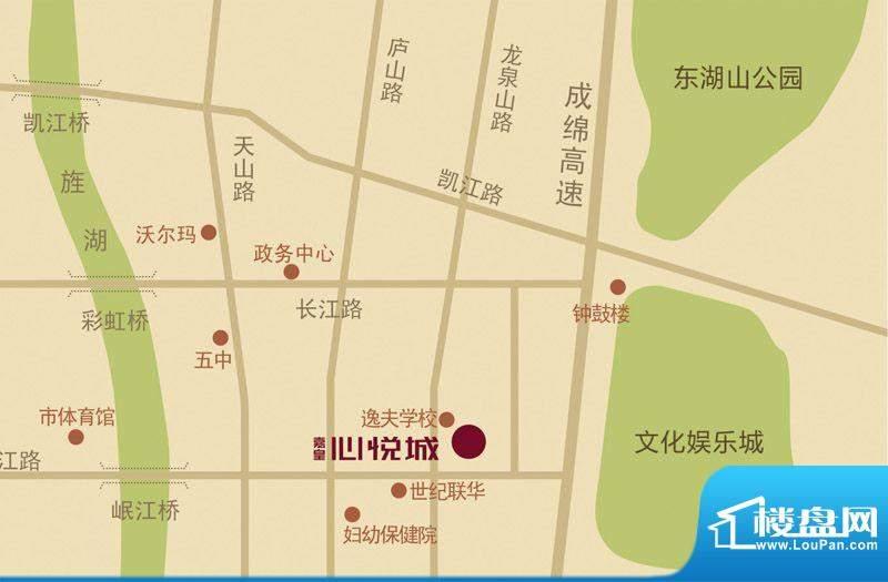 嘉皇·心悦城交通图