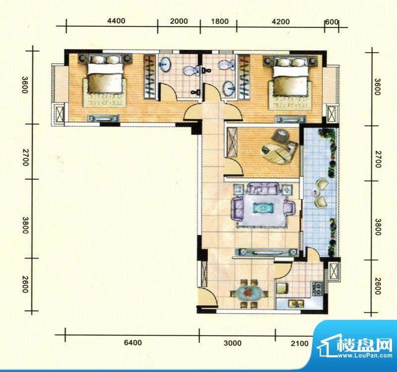 民福苑三期荷风苑A1面积:115.41平米