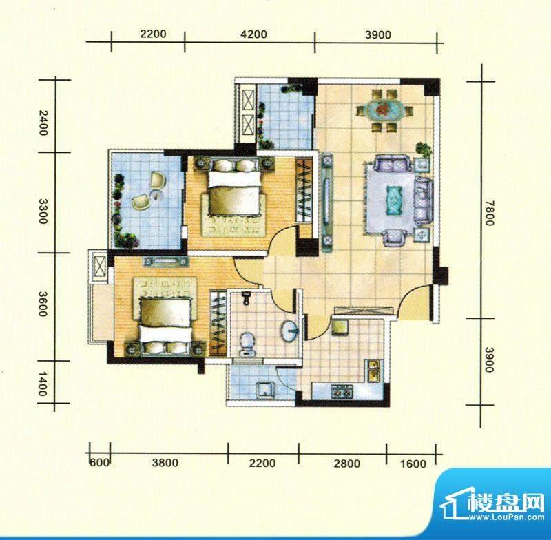 民福苑三期荷风苑B1面积:97.10平米