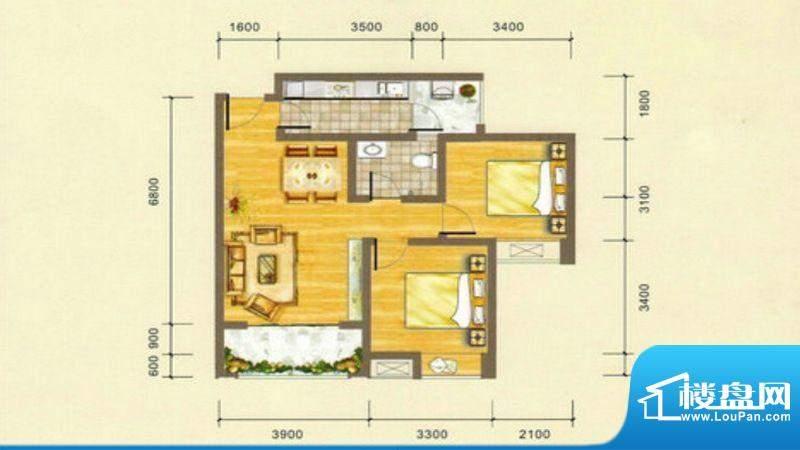 凯江盛世B5 户型图 面积:81.78平米