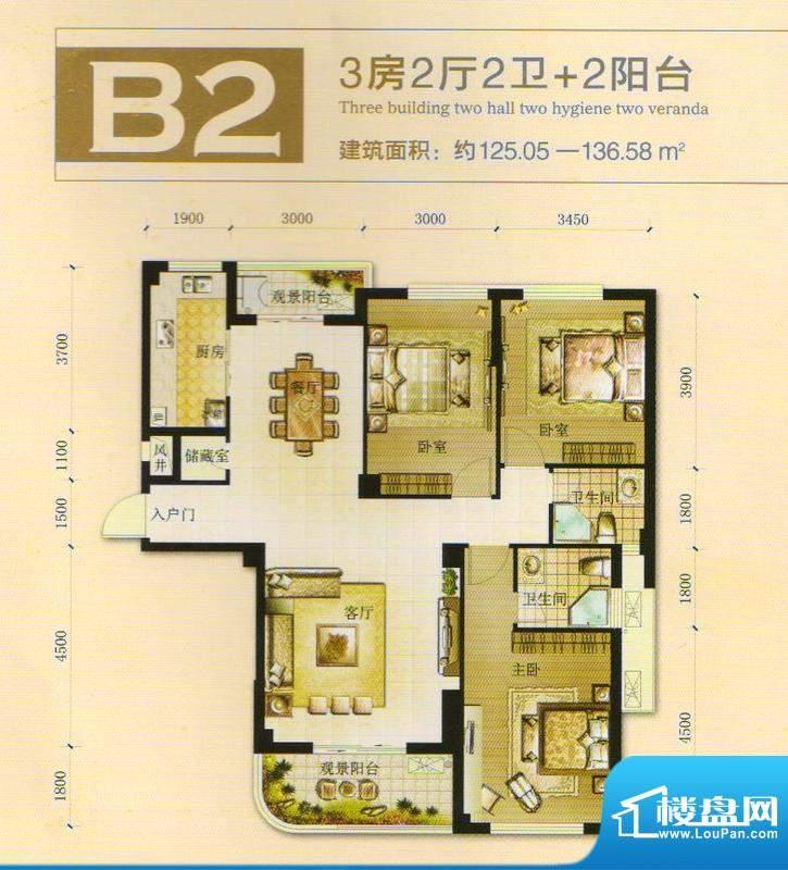 汉川世纪新城一期户面积:0.00m平米