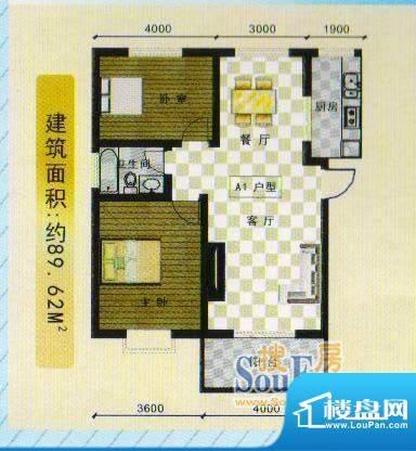 襄江·水岸花园水岸面积:89.62m平米