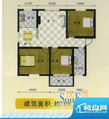 襄江·水岸花园水岸面积:109.79m平米