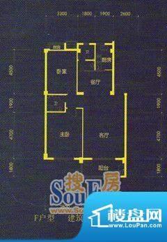 九星阳光城F户型 2室面积:102.00m平米