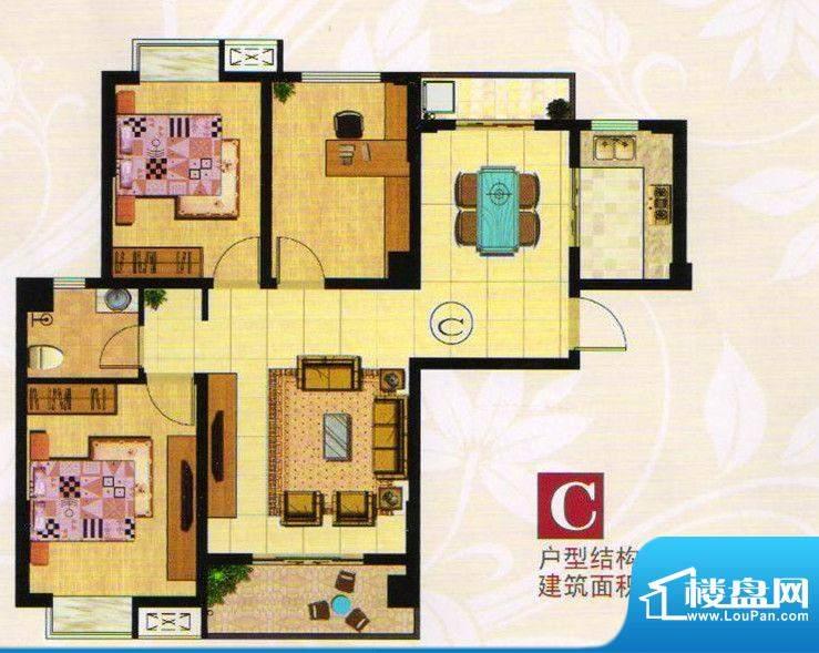 金港一品C户型 3室2面积:108.32m平米