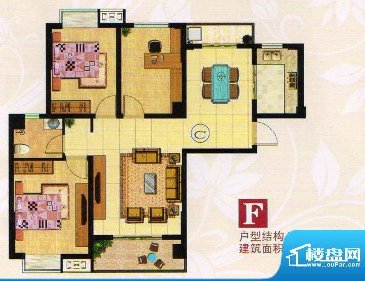 金港一品F户型 3室2面积:108.73m平米