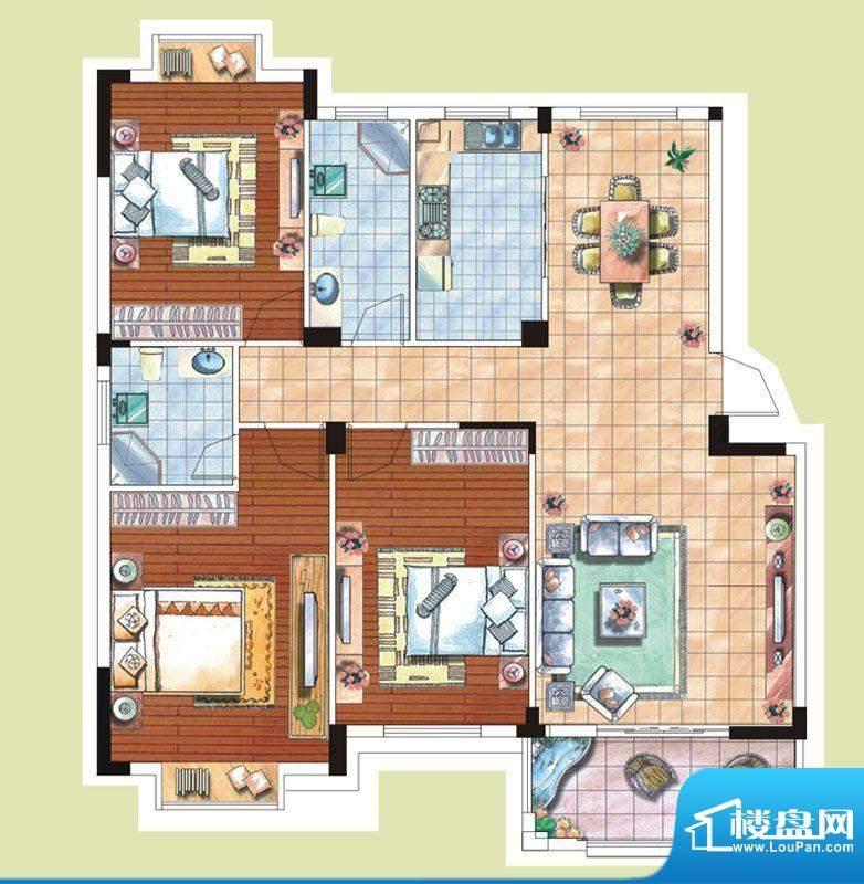 光谷桂花城1栋8栋户面积:122.95m平米