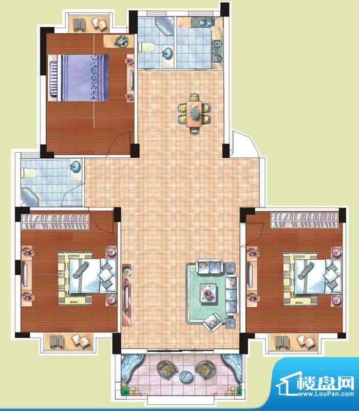 光谷桂花城2栋C户型面积:126.20m平米