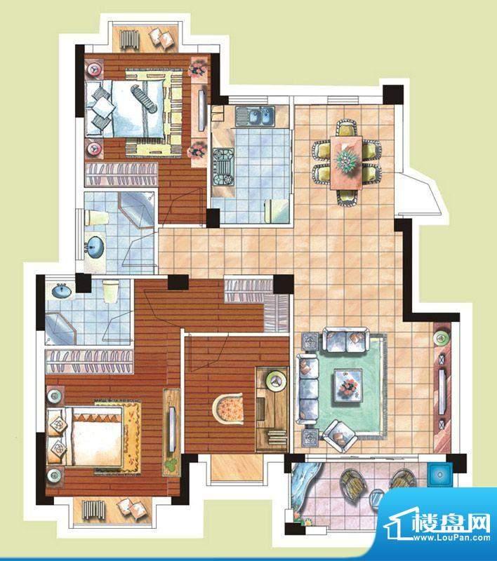 光谷桂花城5栋7栋户面积:103.00m平米