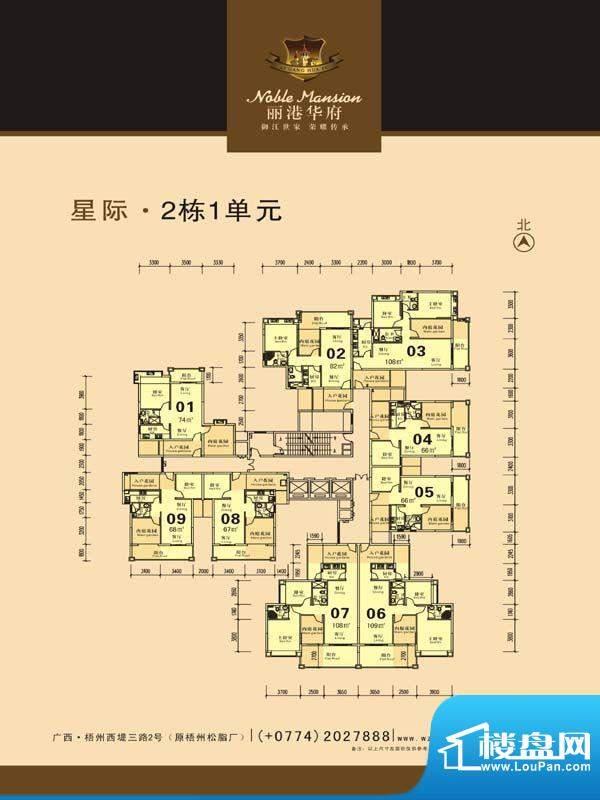 丽港华府星际2栋1单面积:0.00m平米