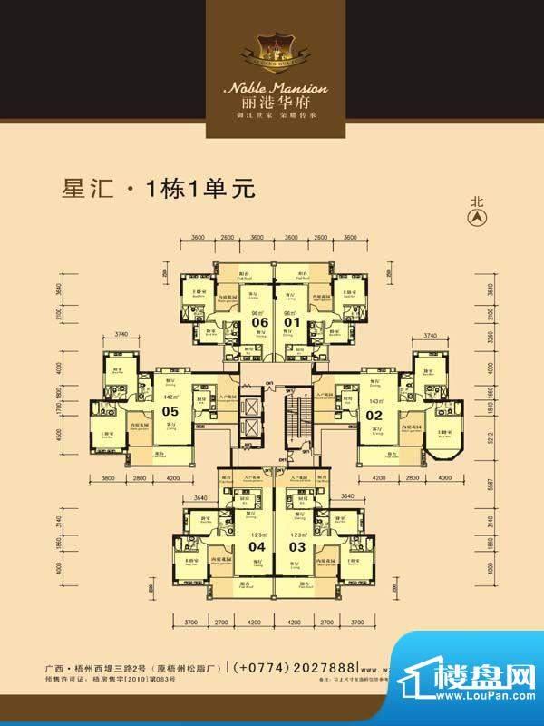 丽港华府星汇1栋1单面积:0.00m平米
