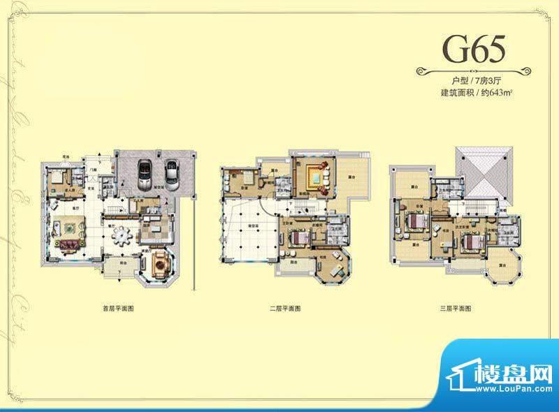碧桂园欧洲城一期G6面积:643.00m平米