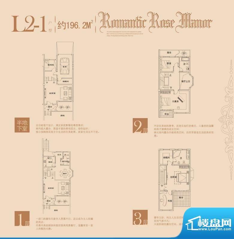 玫瑰十一英里L2-1户面积:196.20m平米