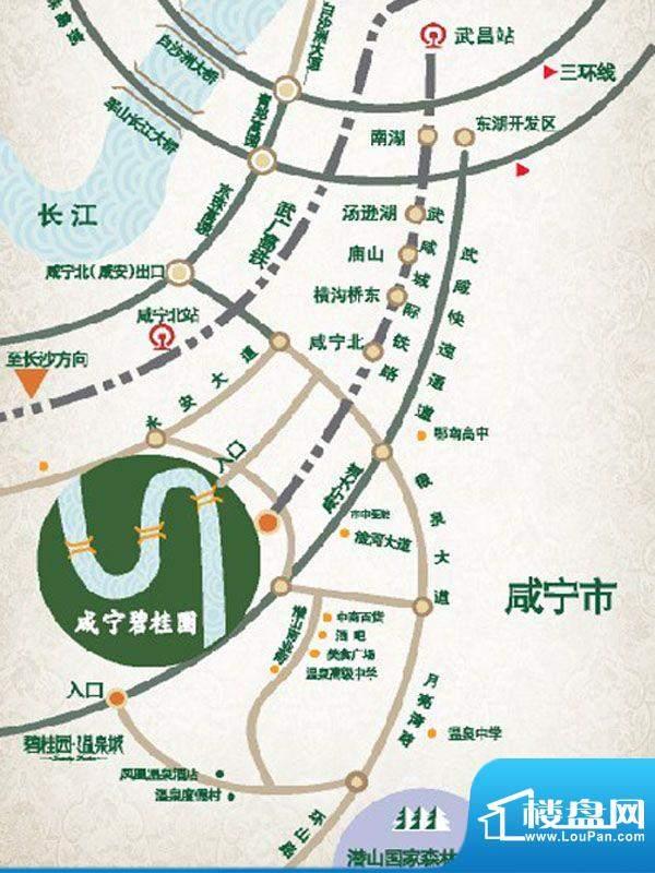咸宁碧桂园交通图