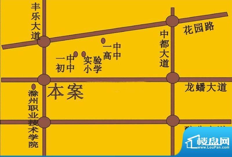龙蟠汇景交通图