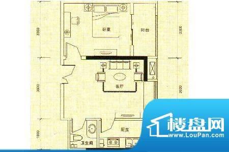 新洲中央街区新洲8 面积:56.57m平米
