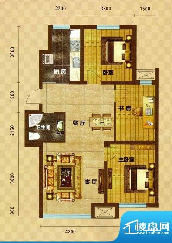 碧水云天05 3室2厅1面积:104.57m平米