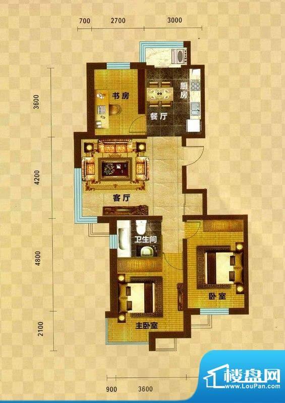碧水云天03 3室2厅1面积:113.44m平米