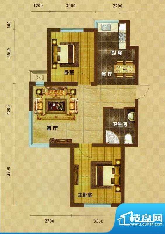 碧水云天02 2室2厅1面积:78.46m平米