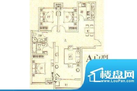 龙城国际7 3室2厅2卫面积:128.60m平米