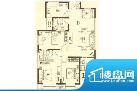龙城国际1 3室2厅2卫面积:123.50m平米