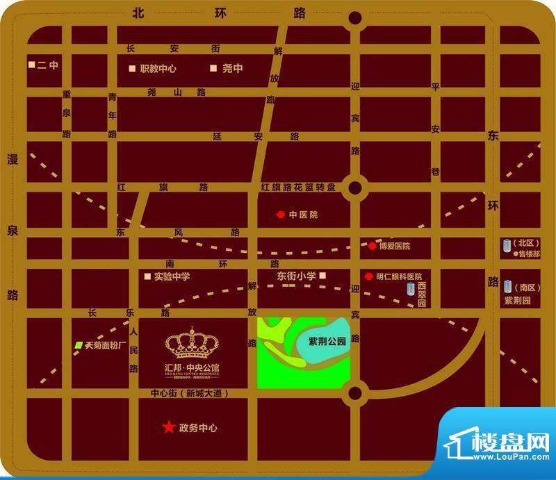 汇邦·中央公馆交通图