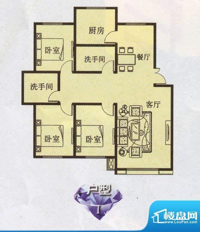 幸福e家1 3室2厅2卫面积:0.00m平米