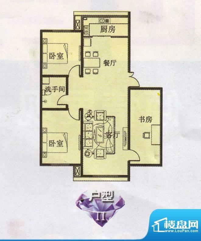 幸福e家2 3室2厅1卫面积:0.00m平米