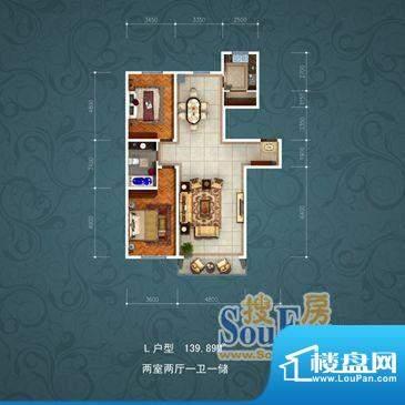 国茂清华苑5588 2室面积:139.89m平米