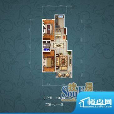 国茂清华苑7788 2室面积:105.00m平米