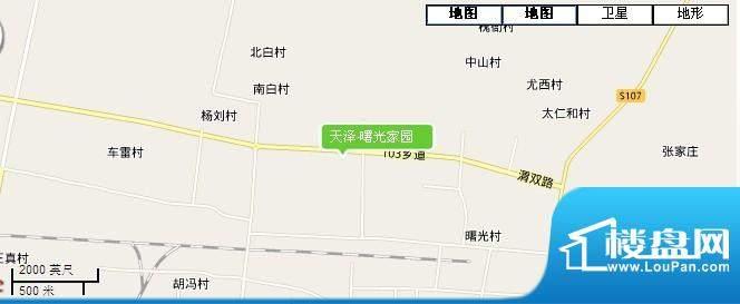天泽·曙光家园交通图