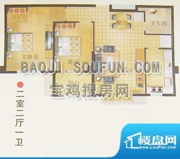 新烽火荣上居户型图面积:96.36m平米