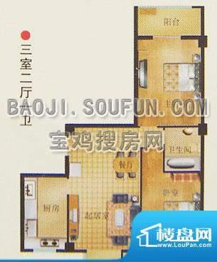 新烽火荣上居户型图面积:94.65m平米