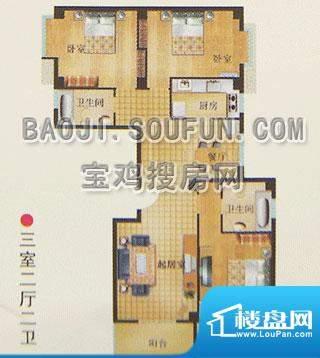 新烽火荣上居户型图面积:140.56m平米