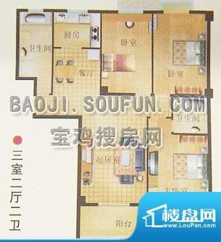新烽火荣上居户型图面积:138.56m平米