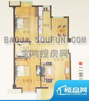 新烽火荣上居户型图面积:110.60m平米